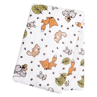 Trend Lab Friendly Forest Flannel Deluxe Swaddle Blanket