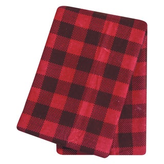 Trend Lab Brown and Red Flannel Buffalo Check Deluxe Swaddle Blanket