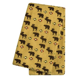 Trend Lab Northwoods Animals Flannel Deluxe Swaddle Blanket