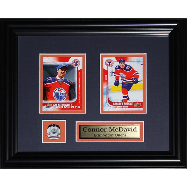 Connor McDavid Edmonton Oilers 2-card Frame