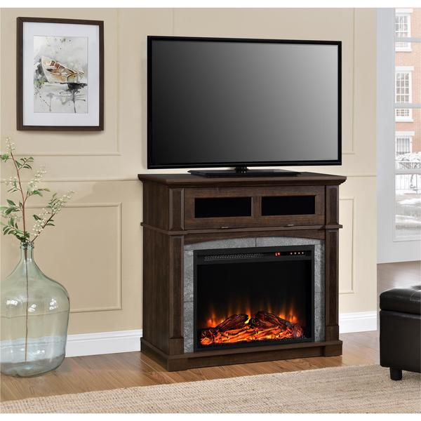 Ameriwood Home Thompson Place Electric Fireplace 37 Inch Tv Stand