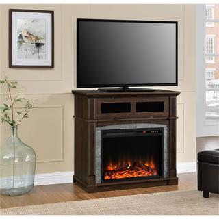 Ameriwood Home Thompson Place Electric Fireplace 37-inch TV Stand