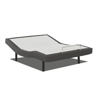 Purelife King-size Adjustable Bed Base with Full Range Head and Foot Lift, Massage, and Wireless Remote