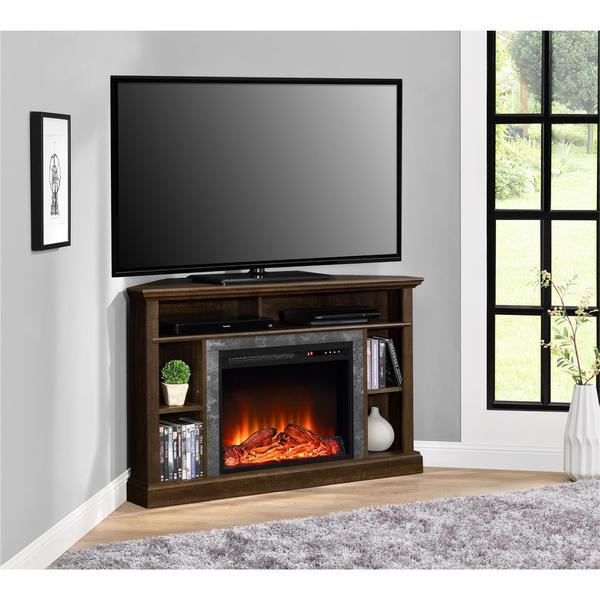 altra overland contemporary electric fireplace corner 50 inch tv stand free shipping today. Black Bedroom Furniture Sets. Home Design Ideas