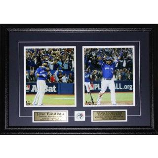 Jose Bautista and Edwin Encarnacion Bat Flip and Bat Drop Home Run 2-photo Frame