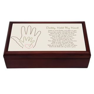 Keepsake Wood Box for Dad - Daddy Hold My Hand