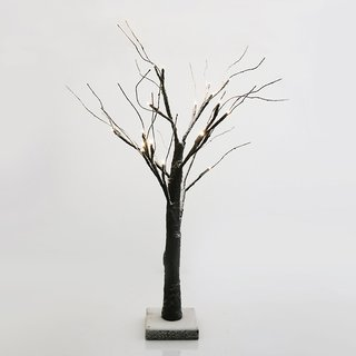 Home Innovations Brown Plastic 24-inch LED Snow Tree