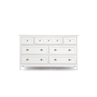Havenside Home Traverse Home Furnishings White Wood Double Dresser