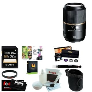 Tamron AFF004C700 SP 90MM F/2.8 DI MACRO 1:1 VC Macro Lens for Canon EF Cameras with Sony 32GB Deluxe Accessory Kit