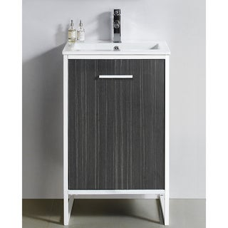 Vdara 20 Inch Dawn Grey Single Bathroom Vanity