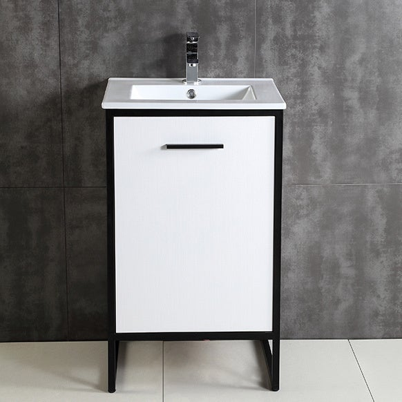 Shop Vdara 20 Inch White Single Bathroom Vanity Free Shipping