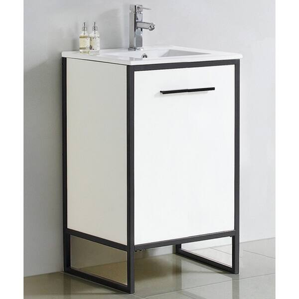 White Single Bathroom Vanity