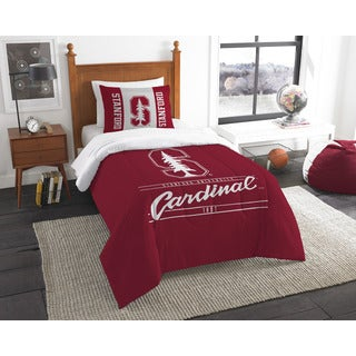 The Northwest Company COL Stanford Modern Take Red and White 2-piece Twin Comforter Set