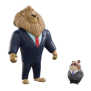Mayor Lionheart and Lemming Businessman Zootopia Pack