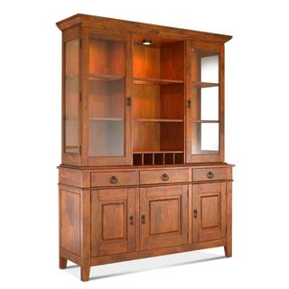 Made to Order Klaussner Furniture Urban Craftsmen Gold-tone Wood Dining Buffet and Hutch