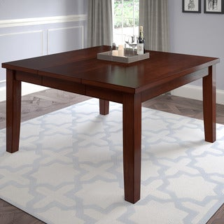 CorLiving Brown Wood/Veneer Dining Table with Hidden Extendable Leaf