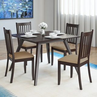 CorLiving Atwood 5-Piece Dining Set with Microfiber Seats
