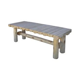 Indoor WhiIte Cedar Log Rustic Coffee Table
