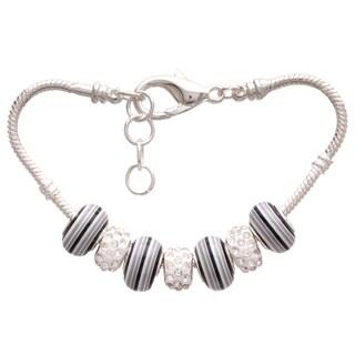 'Gloomy Rainbow' Pandora-Style Charm Bracelet
