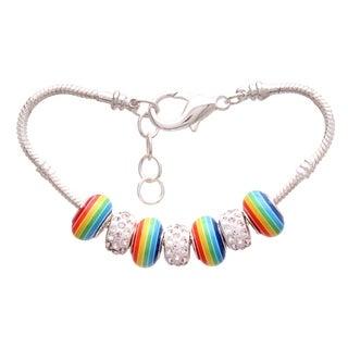 """Classic Rainbow"" Pandora-Style Charm Bracelet"