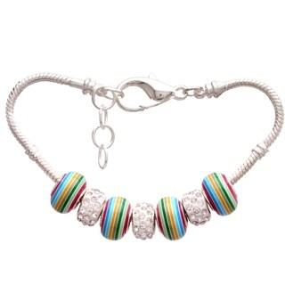 'Rainbow Bright' Pandora-Style Charm Bracelet