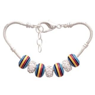 70's Rainbow Pandora-Style Charm Bracelet