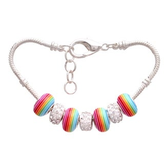 """Candy Rainbow"" Pandora-Style Charm Bracelet"