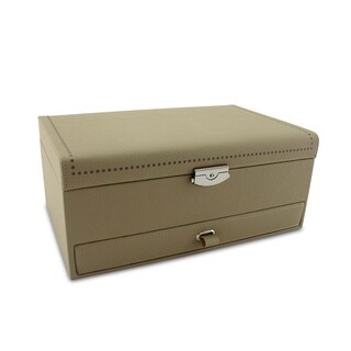 Morelle Co Tan-colored Leather Jewelry Box