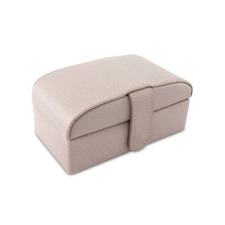 Morelle Lavender Leather Rectangular Compact Jewelry Box