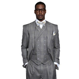 Sassari Men's Natural Statement Suit