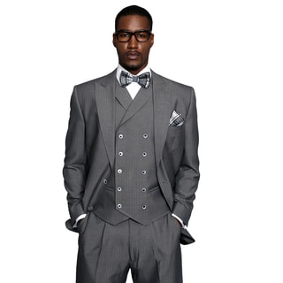 Monza Men's Statement Grey Suit