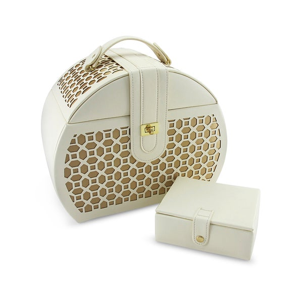 Morelle Co Diana Leather Purse Jewelry Box with Takeaway Case