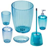 Ribbed Acrylic Bath Accessory Set or Separates