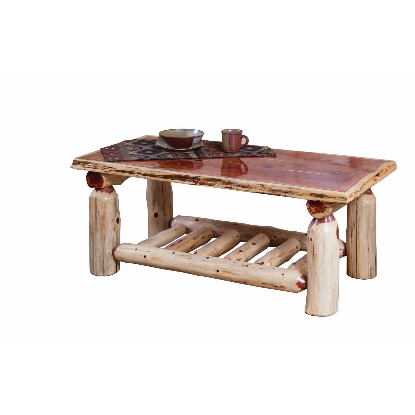 - Shop Rustic Red Cedar Log Coffee Table - Overstock - 13329676