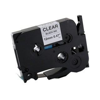 Thornton's Office Supplies Black-on-White Metal/Plastic Compatible P-Touch Laminated Label Tape