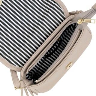 Olivia Miller 'Emery' Pebbled Grain Quilted Crossbody Handbag