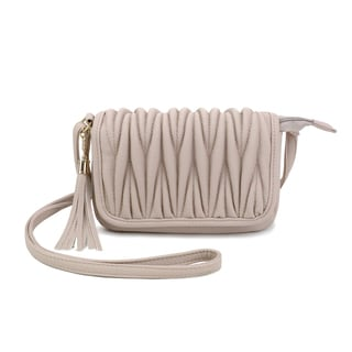 Olivia Miller 'Emery' Pebbled Grain Quilted Crossbody Handbag