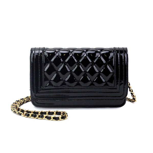 1549d79f519c Shop Olivia Miller Zoe Patent PU Quilted Crossbody Handbag - Free ...