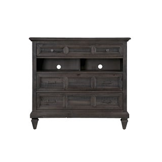 Magnussen Home Furnishings Calistoga Weathered Charcoal Wood 3-drawer Media Chest