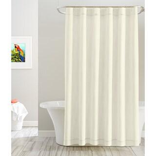 Pointehaven Cotton Solid Color 72' x 72' Shower Curtains