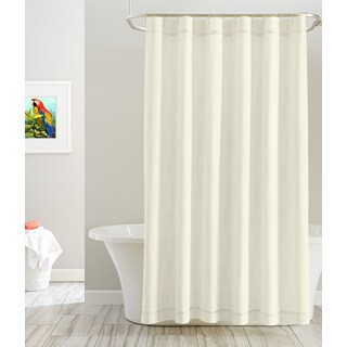 Pointehaven Cotton Solid Color 72' x 72' Shower Curtains