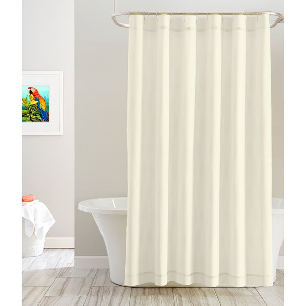 Pointehaven Cotton Solid Color 72x27 X Shower Curtains