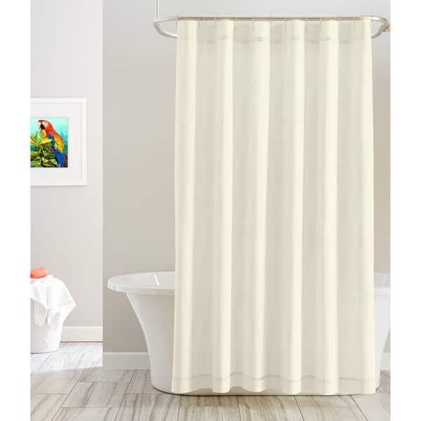 Shop Pointehaven Cotton Solid Color 72 X 72 Shower Curtains On