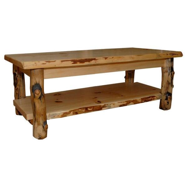 Shop Rustic Aspen Log Coffee Table