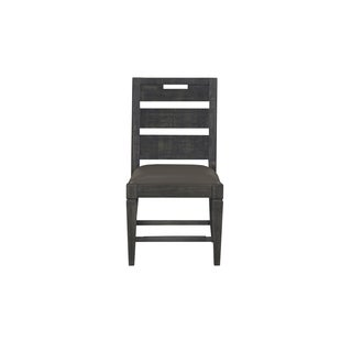 Magnussen Home Furnishings Abington Weathered Charcoal Polyurethane and Wood Dining Chairs (Set