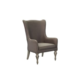 Magnussen Home Furnishings Hancock Park Weathered Oak Fully Upholstered Host Chair