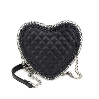 Olivia Miller 'Alura' Chain Wrapped Heart Crossbody Handbag