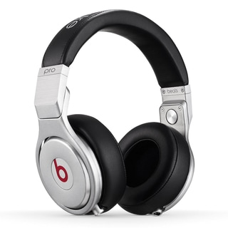 Beats By Dre Rebufurbished Silver/Black Pro Wired Over Ear Headphone