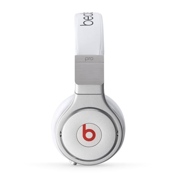 Shop Beats By Dre Pro White Aluminum Alloy Wired Over Ear Headphones Overstock 13329753