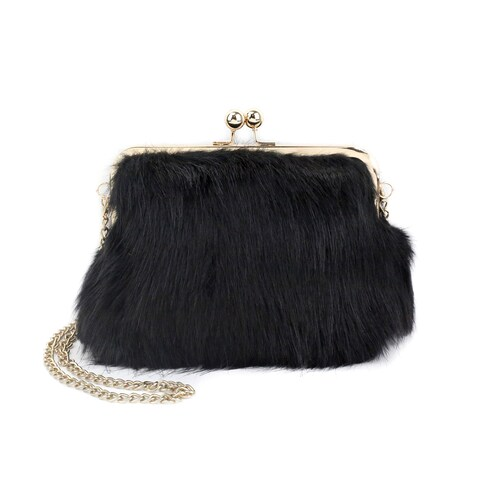 Olivia Miller 'Iselle' All Over Fur Shoulder Handbag